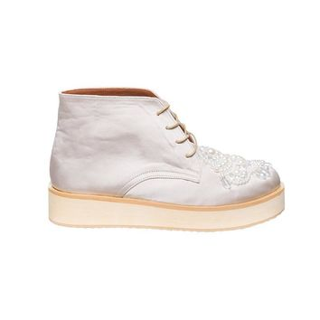 TAYLOR LACE UP SATIN SHOES