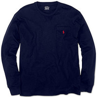 Polo Ralph Lauren T-Shirt, Classic-Fit Long-Sleeve Cotton Jersey Pocket Crew Neck T-Shirt