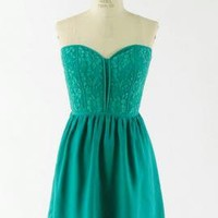 Picture Perfect Lace Bustier Sweetheart Skater Dress in Emerald | Sincerely Sweet Boutique