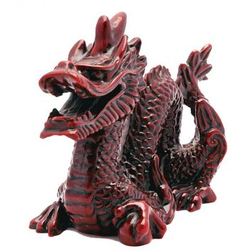 Chinese Red Stone Resin Dragon Statue