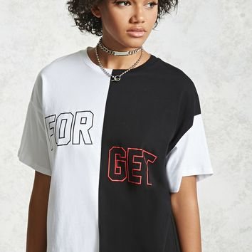 Forget Graphic Colorblock Tee