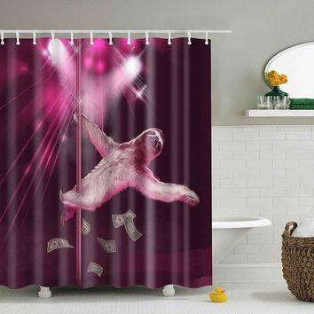 180*180 CM SPA Waterproof Shower Curtain Shocking Digital Printing Bathroom Decoration With 12 Hooks High-quality
