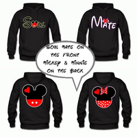 Disney Matching Couples Sweatshirts Soul Mate on the front Mickey and Minnie on the back Two for 69.99 Personalize for a Perfect Love Gift