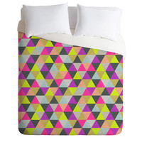 Bianca Green Ocean Of Pyramid Duvet Cover