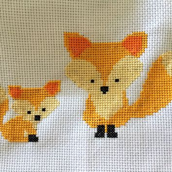 Fox Cross Stitch Pattern - Cute Animal Cross Stitch