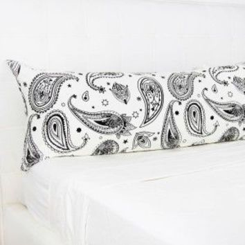 Bandana Print Body Pillow Cover