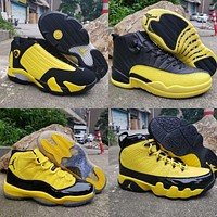Air Jordan 9 11 12 14 Retro Black Yellow Bumblebee Pack