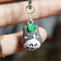Totoro Charm - Polymer Clay Charm - Cute Jewelry - Kawaii Jewelry - Totoro Necklace - Totoro Keychain - Totoro Phone Charm - Clay Accessory