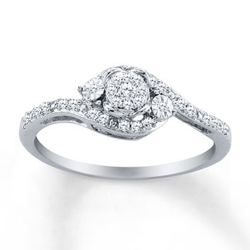 HEARTessence Ring 1/6 ct tw Diamonds Sterling Silver