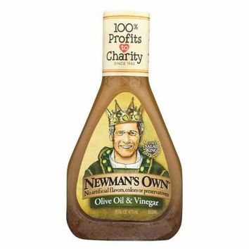 Newman's Own Red Wine Dressing - Vinegar and Olive Oil - Case of 6 - 16 Fl oz.