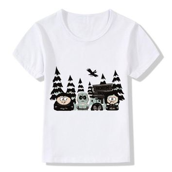 Children Cartoon Game of Thrones South Park Design Funny T-shirt Baby Boys/Girls Summer Tops T shirt Kids Clothes,HKP5074