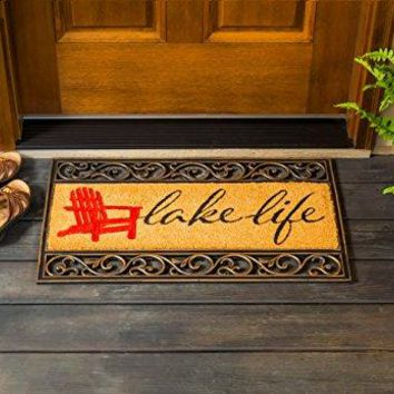 "Lake Life Welcome Mat - 28.25""W x 9.25""H"