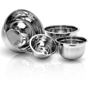 4 Piece Stainless Mixing Bowl Set