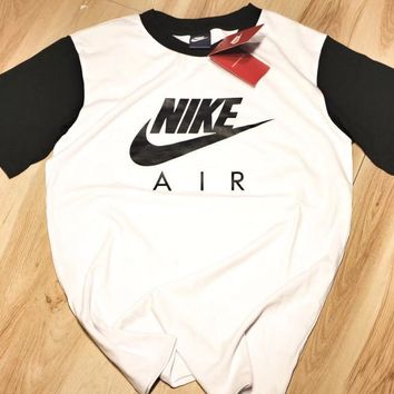nike air max unisex sport casual letter print multicolor short sleeve couple t shirt top tee