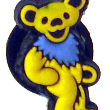 Grateful Dead - Yellow Bear Croc Button