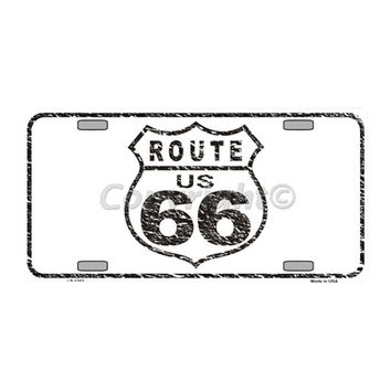 Smart Blonde Route 66 Distressed Novelty Vanity Metal License Plate Tag Sign