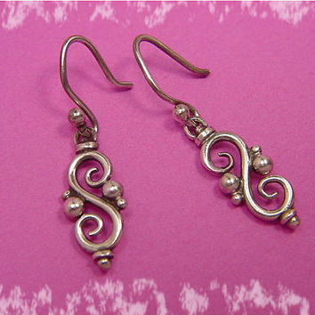 Summer Swirl - Sterling Silver Handcrafted Artisan Earrings