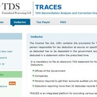 TDS Traces: TDS Traces Services at www.tdscpc.gov.in
