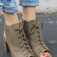 Wildly Devoted Booties - Olive