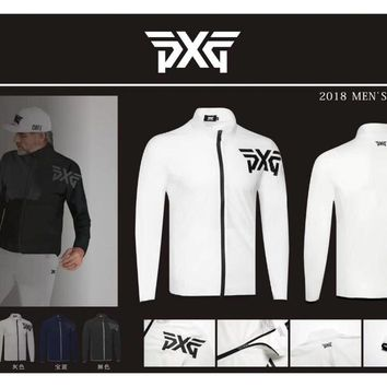 Men's Golf Jacket Zipper PXG Single Layer Thin jacket Outdoor Sports Outwear with male Clothes 4 colors Autumn