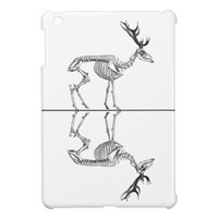 Spooky vintage skeleton reindeer drawing case for the iPad mini