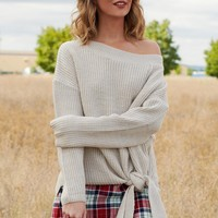Pete Knitted Sweater (Taupe-Grey)