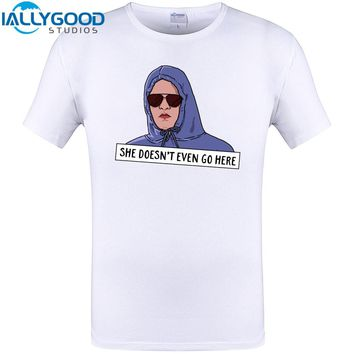 Mean Girls Movie Funny Design T-Shirt Mens Hipster She doesnt even go here Printing Cotton Tshirts Cool Tops T