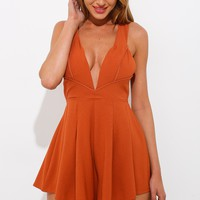 The Warrior Playsuit Rust