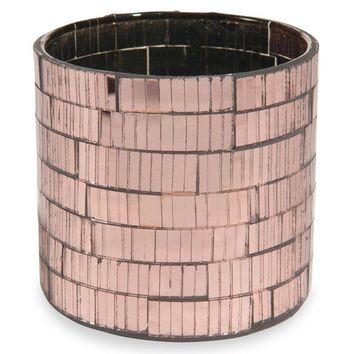 COPPER copper glass tealight holder H 8 cm | Maisons du Monde