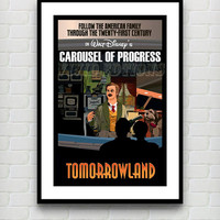 Vintage Tomorrowland Carousel of Progress Disneyland Attraction Poster Reprint -- Not Framed 18x24 - Buy 2 Get 1 Free!