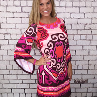 I Just Think You're The Best Dress - Pink/Multi