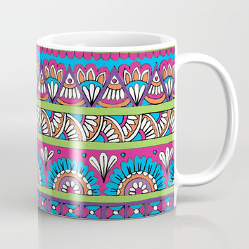 Patterned Stripes Coffee Mug by Sarah Oelerich