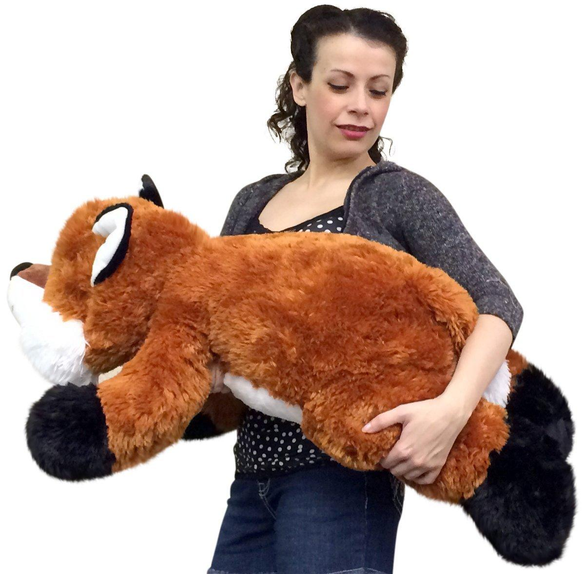 Huge stuffed fox 36 inches soft big plush from amazon for Amazon com pillow pets