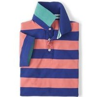 Striped Piqué Polo