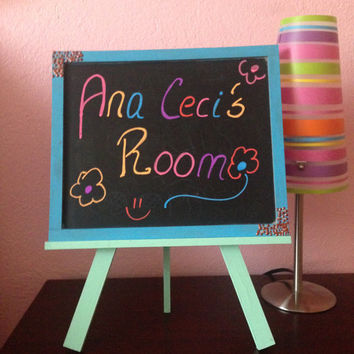 Chalkboard and Easel Set- Wedding Decoration- Photo Prop Chalk Boards-Kids decoration-First Communion decoration