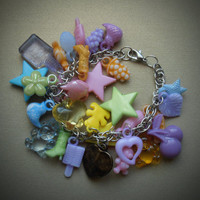 Gumball charm bracelet with lots of gumball charms by BeautyScars