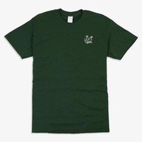 Counterparts - Flowers Embroidered Shirt (Forest Green)