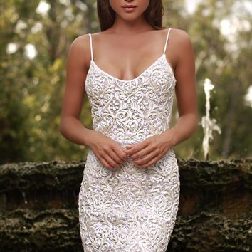 ERANE LACE DRESS IN WHITE - 2 COLORS