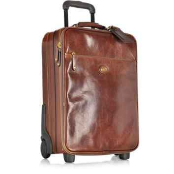 The Bridge Designer Travel Bags Story Viaggio Marrone Leather Trolley