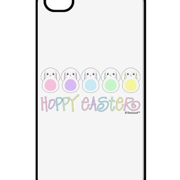 Cute Pastel Bunnies - Hoppy Easter iPhone 4 / 4S Case  by TooLoud