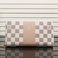 Perfect LV Women Leather Fashion Print Wallet Purse