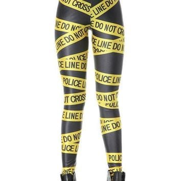 Do Not Cross - Police Line - Women's Leggings