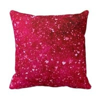 girly hearty pink red funky fun pattern lovely pillows