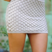 On A Scale Skirt: Tan/Nude | Hope's