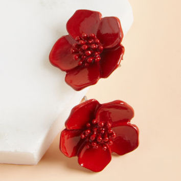 Prettiest Petals Earrings in Red