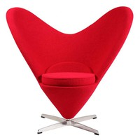 Verner Panton Style Heart Chair