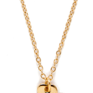 14K Gold Dipped Clover Necklace with Real Diamond
