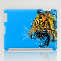 Colorful Tiger Portrait iPad Case by Olechka