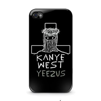 kanye west yeezus iphone 4 4s case cover  number 1