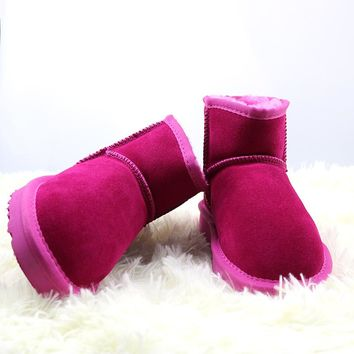 2018 New Fashion Lady Shoes High Quality Waterproof Genuine Leather Snow Boots Winter Boots Warm Classic Women Boots